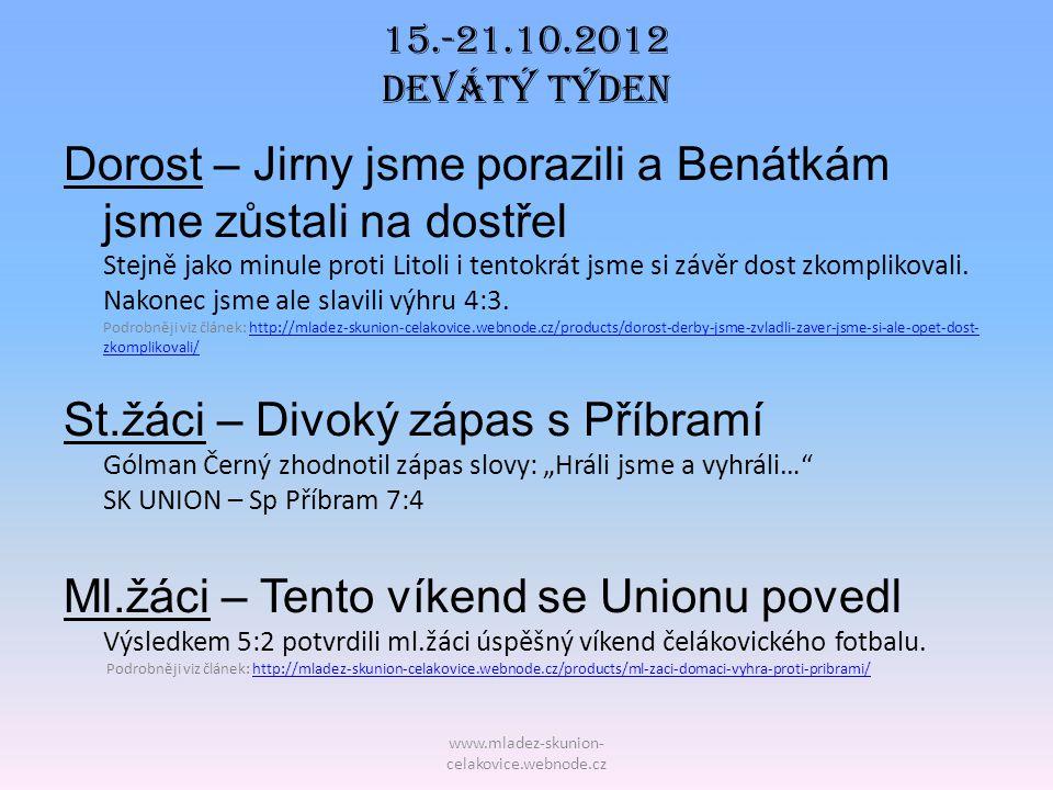 15.-21.10.2012 Devátý TÝDEN