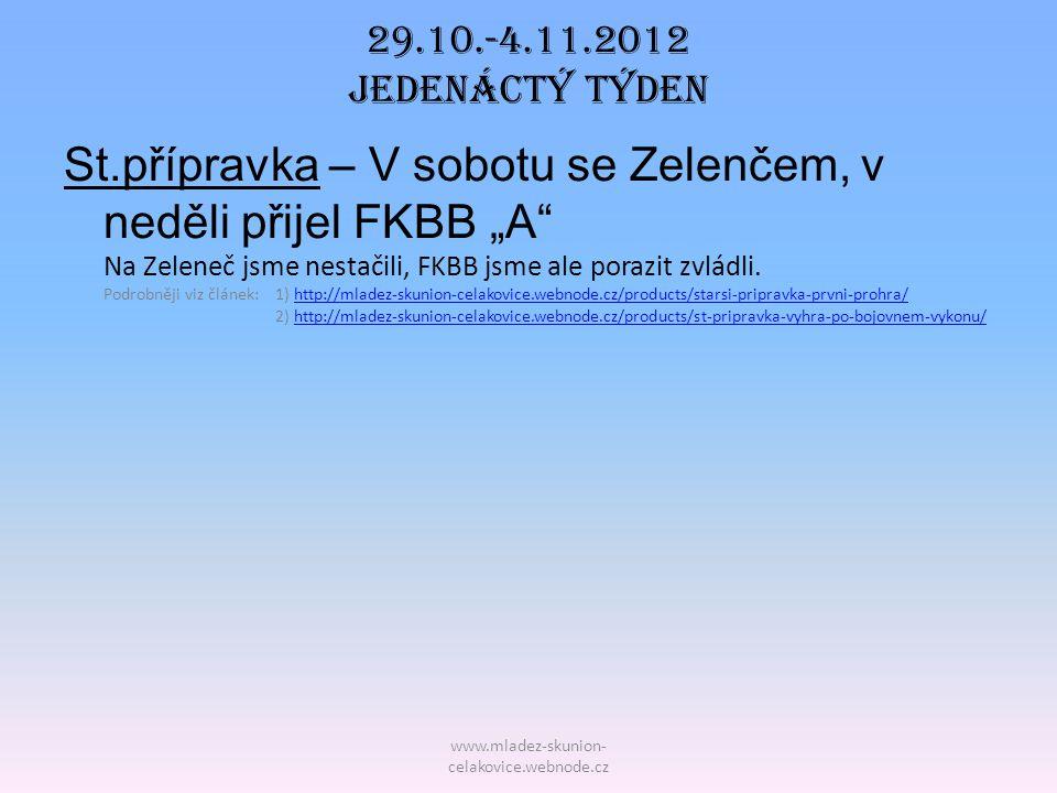 29.10.-4.11.2012 Jedenáctý TÝDEN