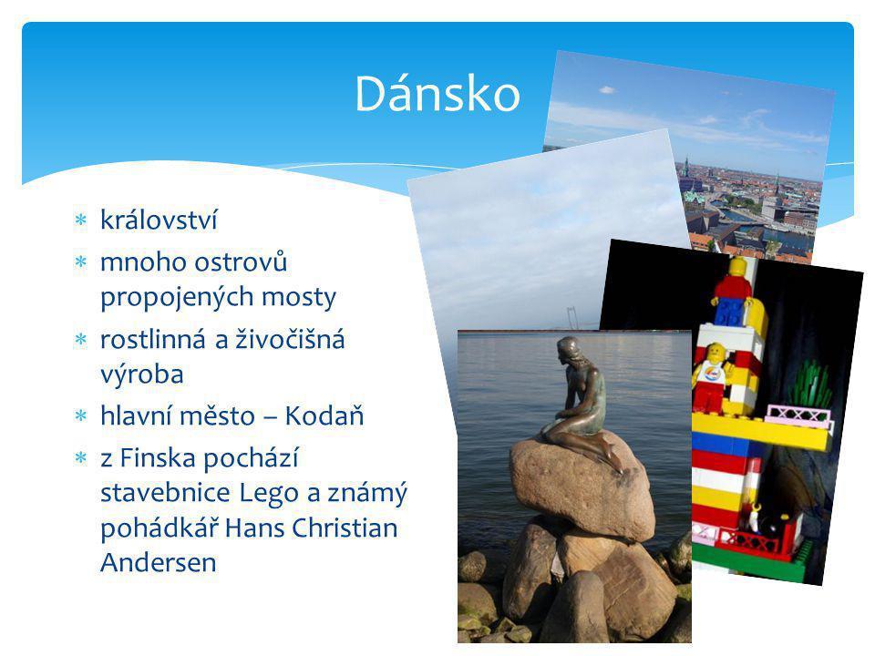 Dánsko království mnoho ostrovů propojených mosty