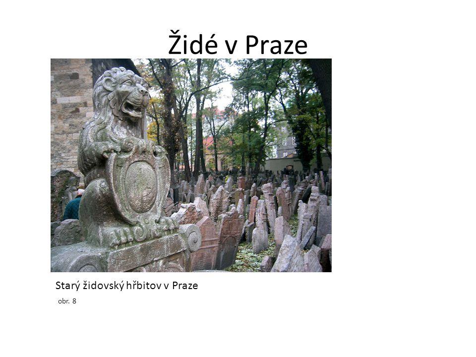 Židé v Praze Starý židovský hřbitov v Praze obr. 8