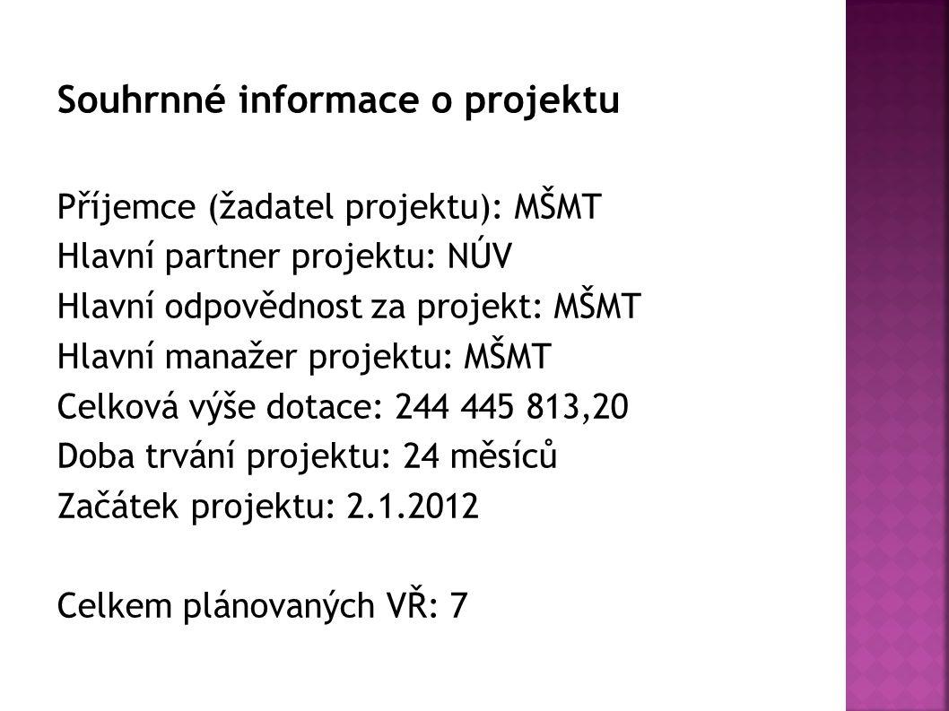 Souhrnné informace o projektu