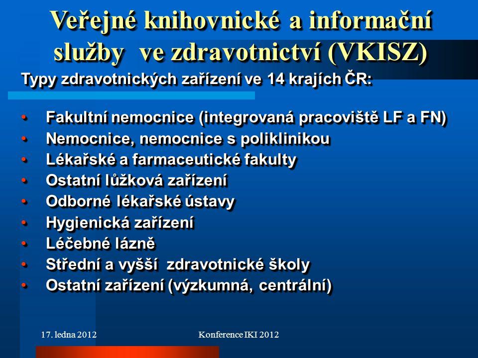 Veřejné knihovnické a informační služby ve zdravotnictví (VKISZ)