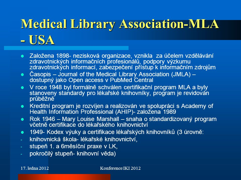 Medical Library Association-MLA - USA