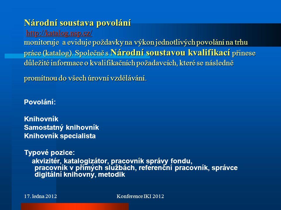 Národní soustava povolání http://katalog. nsp