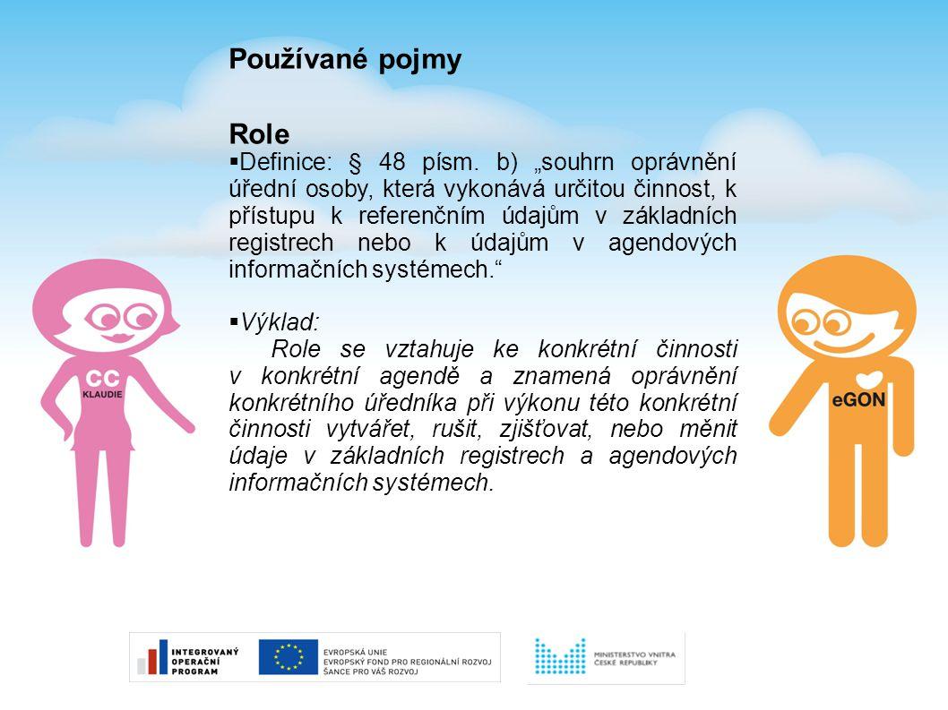 Používané pojmy Role.