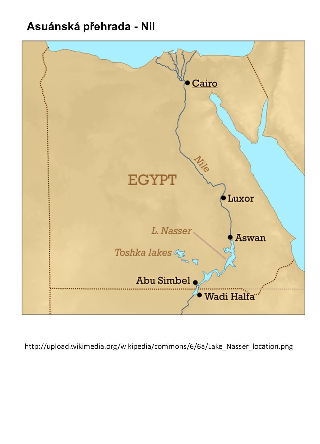 Asuánská přehrada - Nil