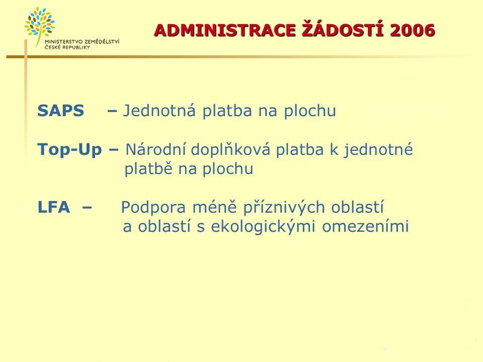 ADMINISTRACE ŽÁDOSTÍ 2006