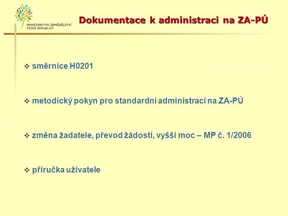 Dokumentace k administraci na ZA-PÚ