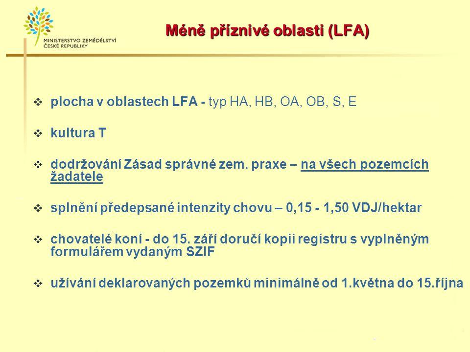 Méně příznivé oblasti (LFA)