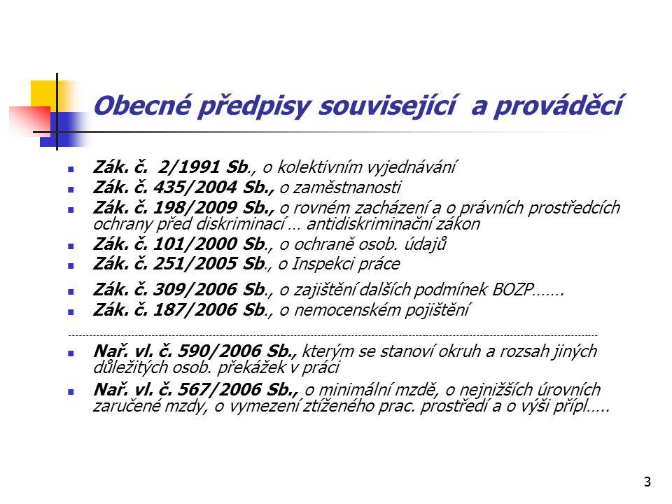Obecné předpisy související a prováděcí
