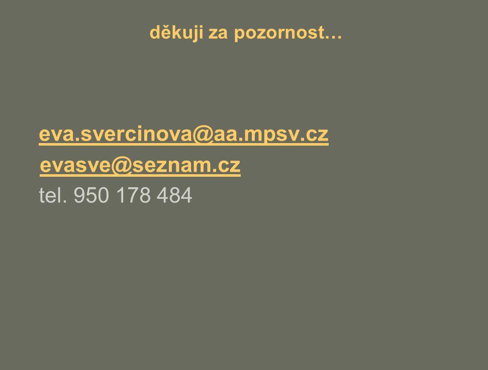 eva.svercinova@aa.mpsv.cz evasve@seznam.cz tel. 950 178 484