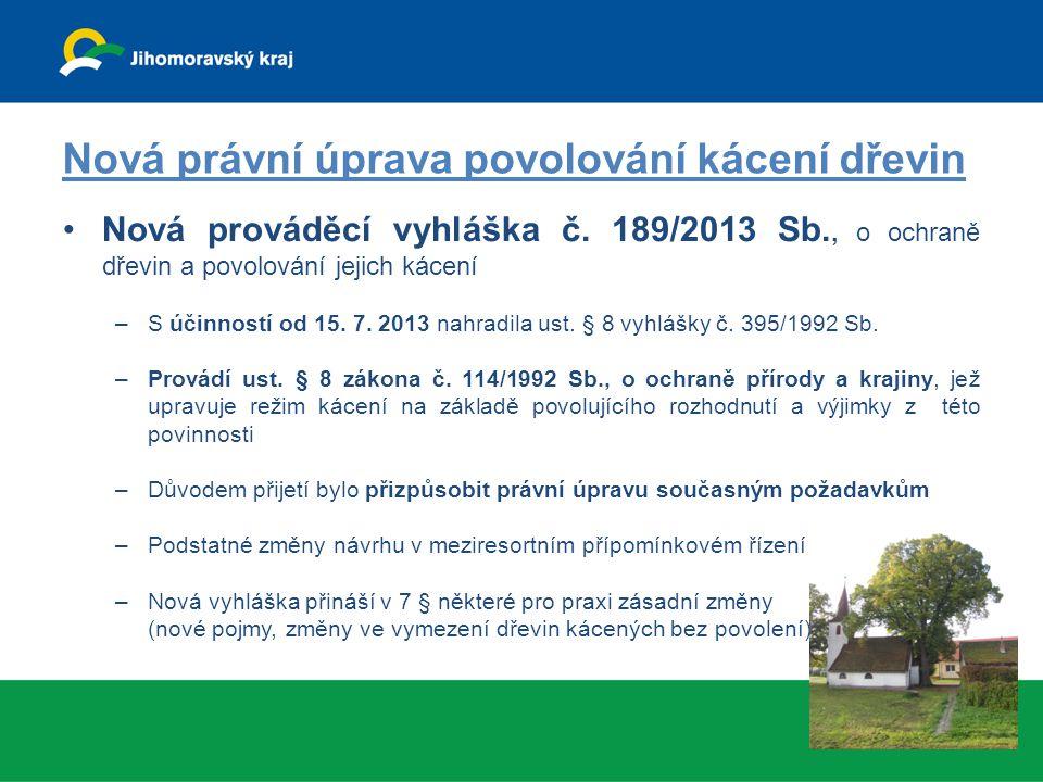 Nová právní úprava povolování kácení dřevin