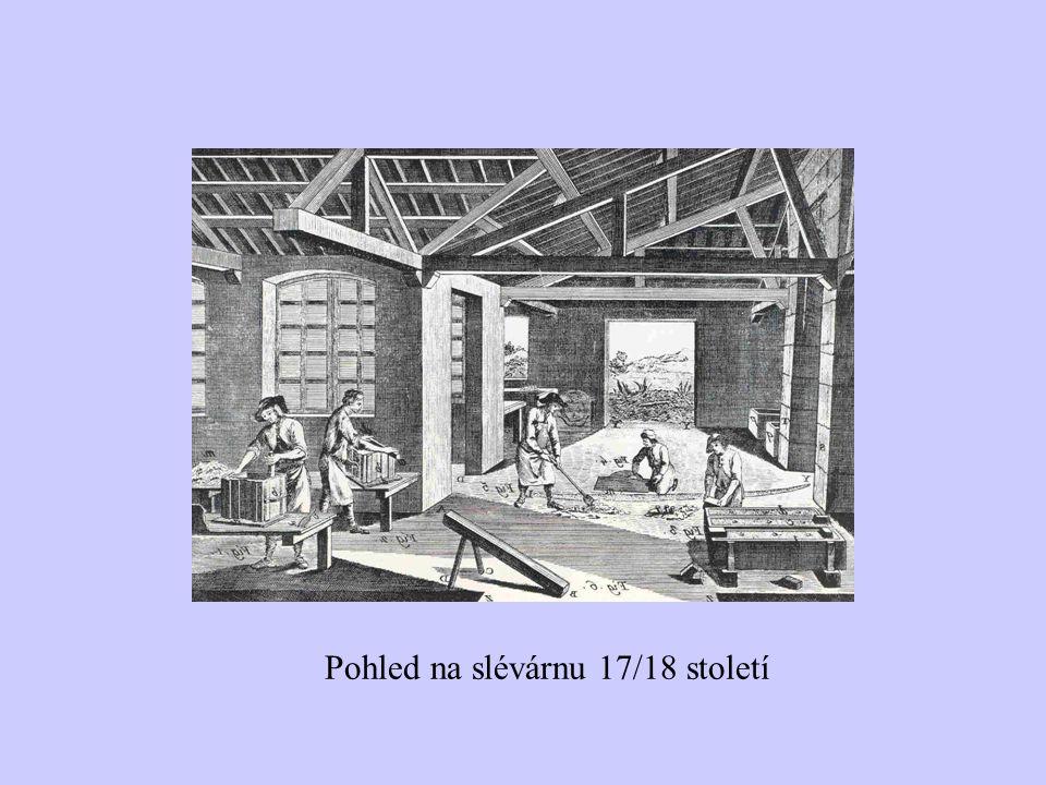Pohled na slévárnu 17/18 století