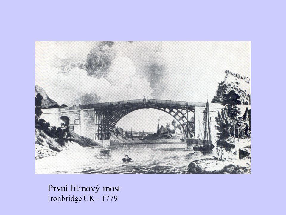 První litinový most Ironbridge UK - 1779