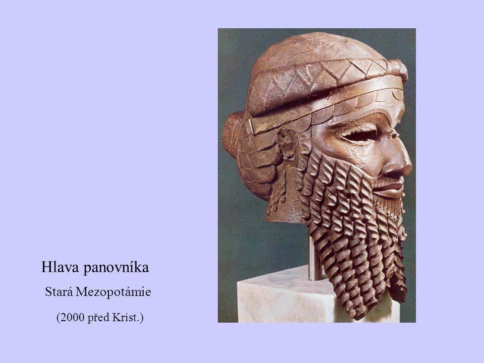 Hlava panovníka Stará Mezopotámie (2000 před Krist.)