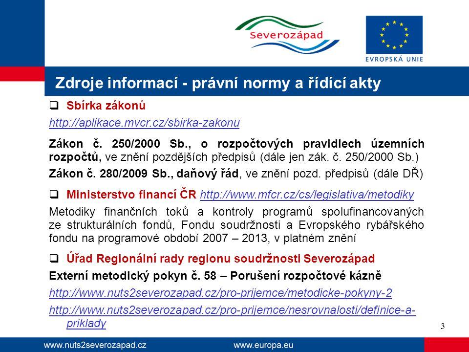 Zdroje informací - právní normy a řídící akty