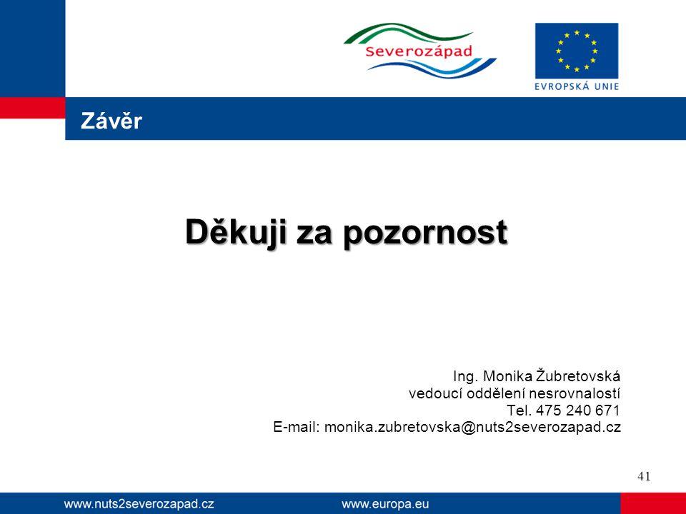 Děkuji za pozornost Závěr Ing. Monika Žubretovská