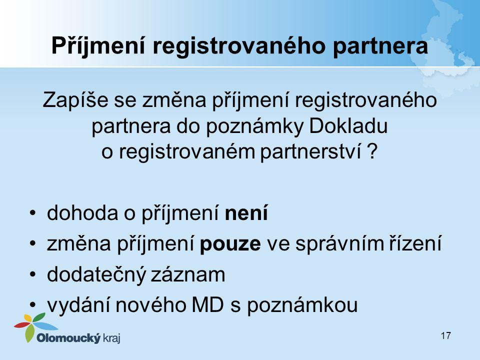 Příjmení registrovaného partnera