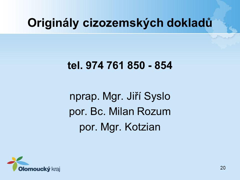 Originály cizozemských dokladů