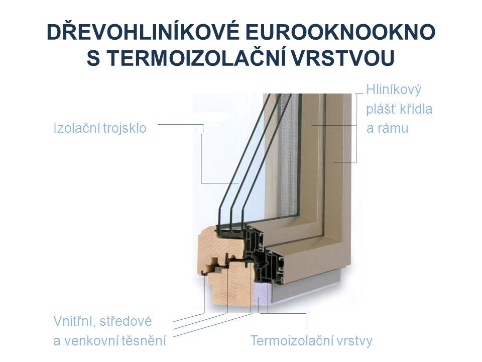 Dřevohliníkové eurooknookno s termoizolační vrstvou