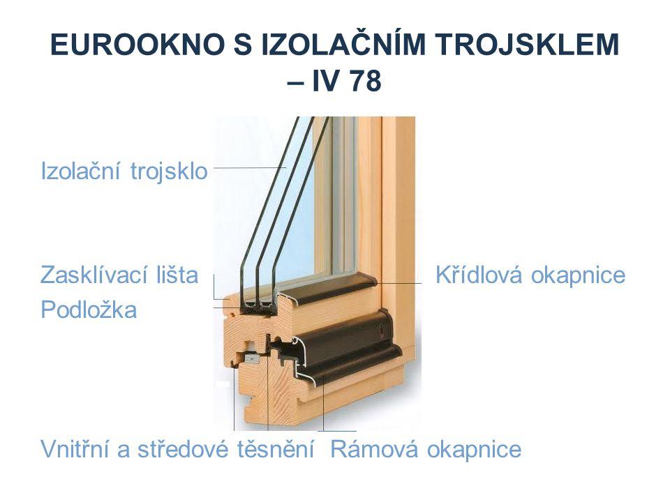 Eurookno s izolačním trojsklem – IV 78