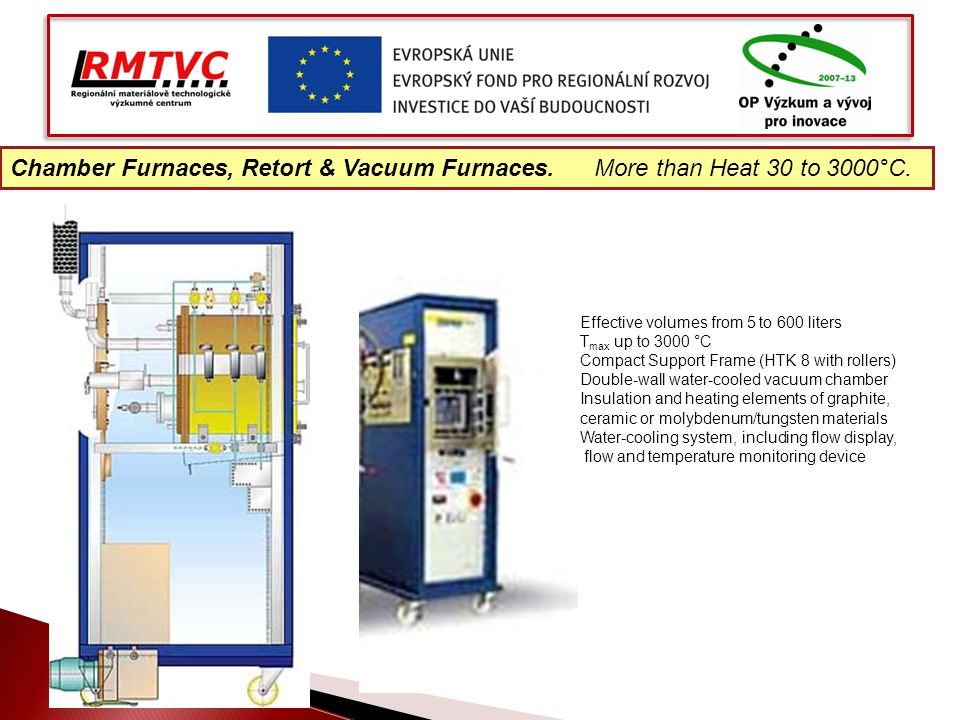 Chamber Furnaces, Retort & Vacuum Furnaces. More than Heat 30 to 3000°C.