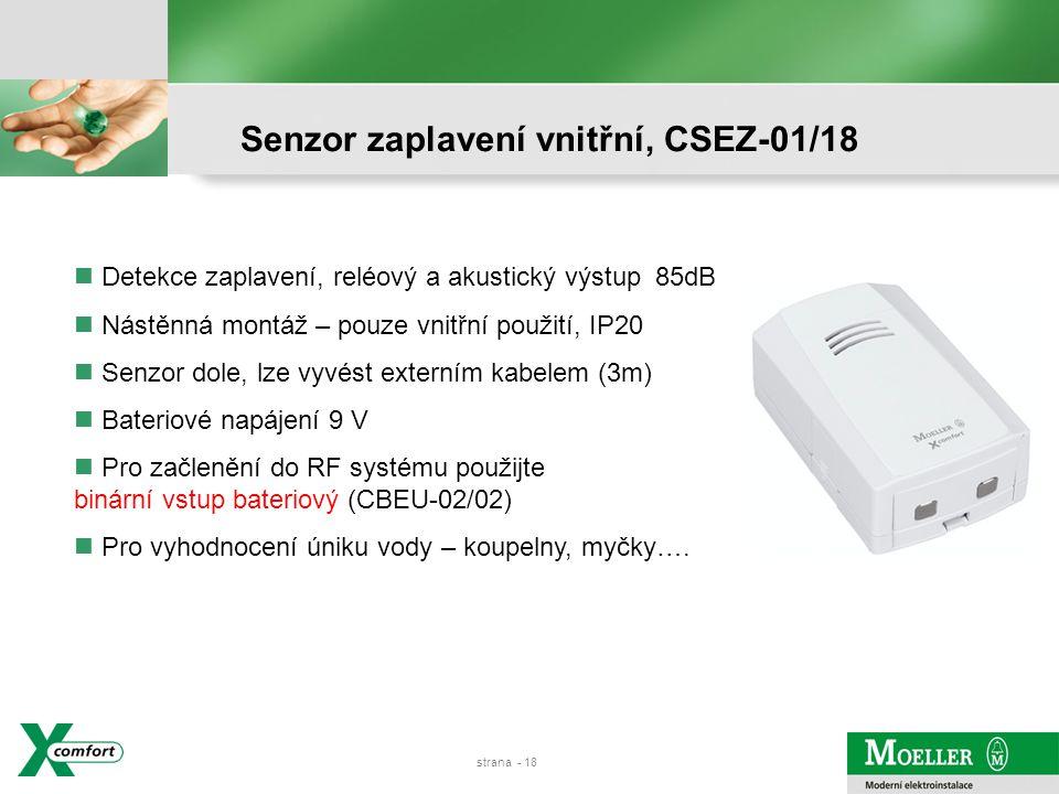 Senzor zaplavení vnitřní, CSEZ-01/18