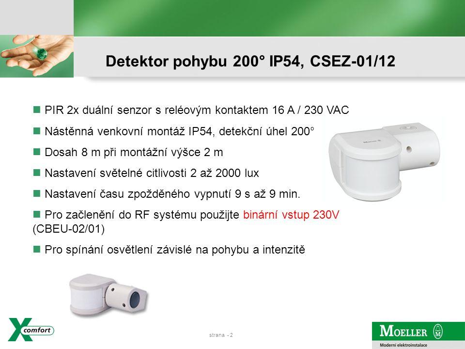 Detektor pohybu 200° IP54, CSEZ-01/12