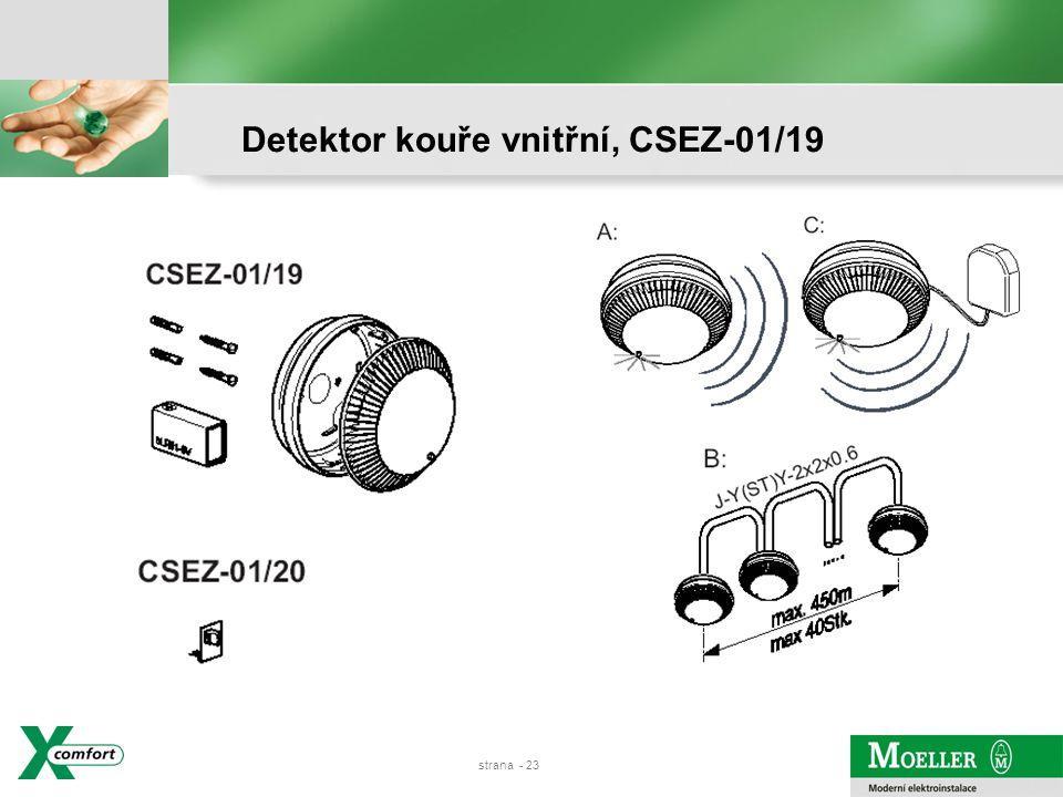 Detektor kouře vnitřní, CSEZ-01/19
