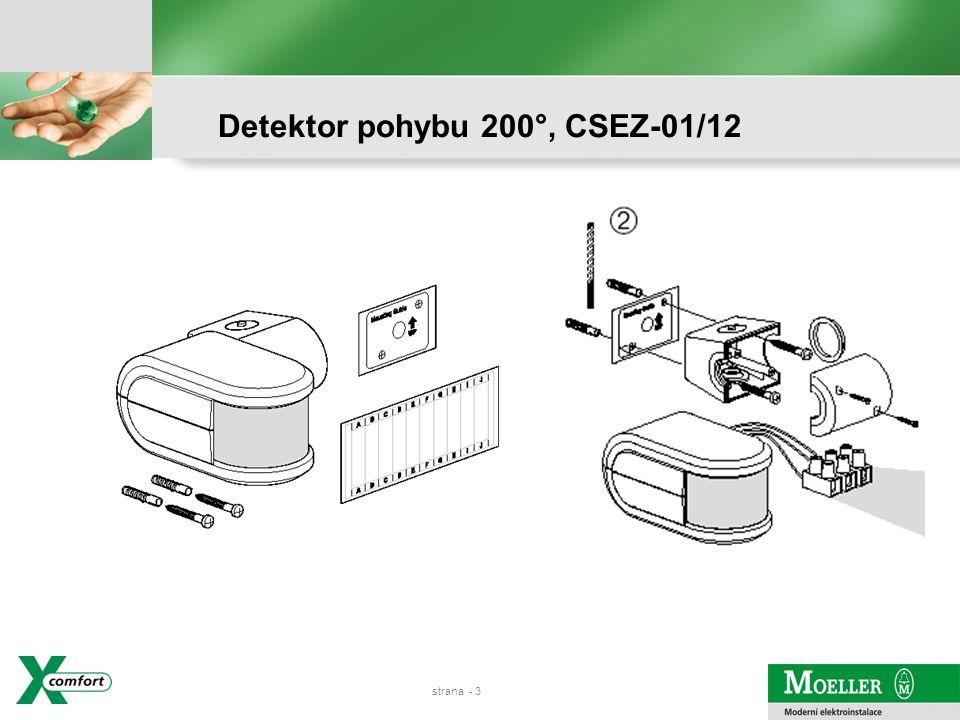 Detektor pohybu 200°, CSEZ-01/12