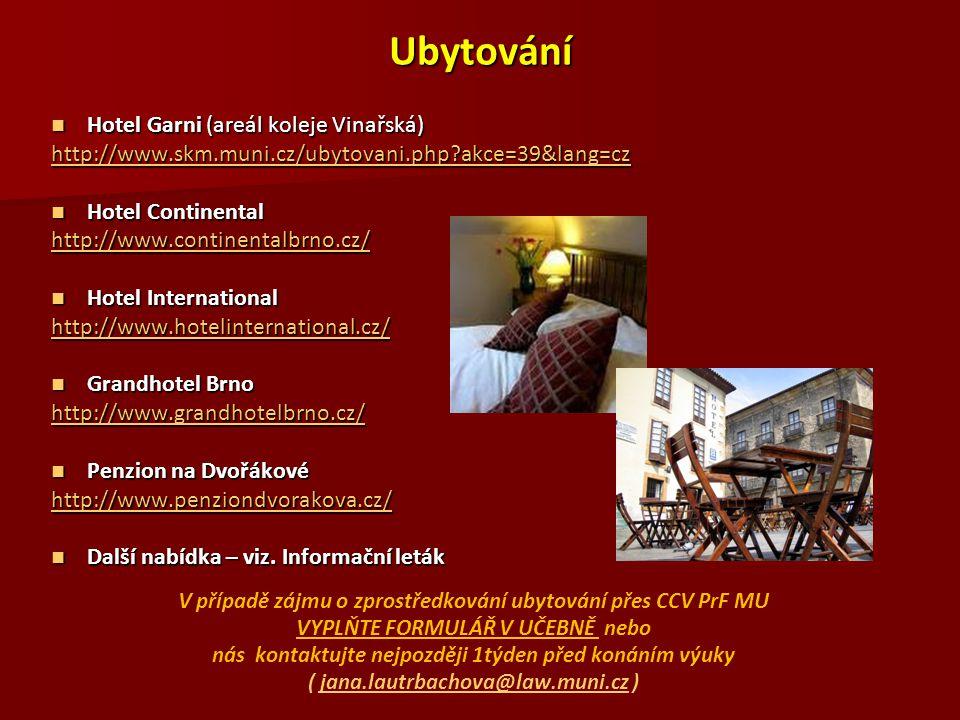 Ubytování Hotel Garni (areál koleje Vinařská)
