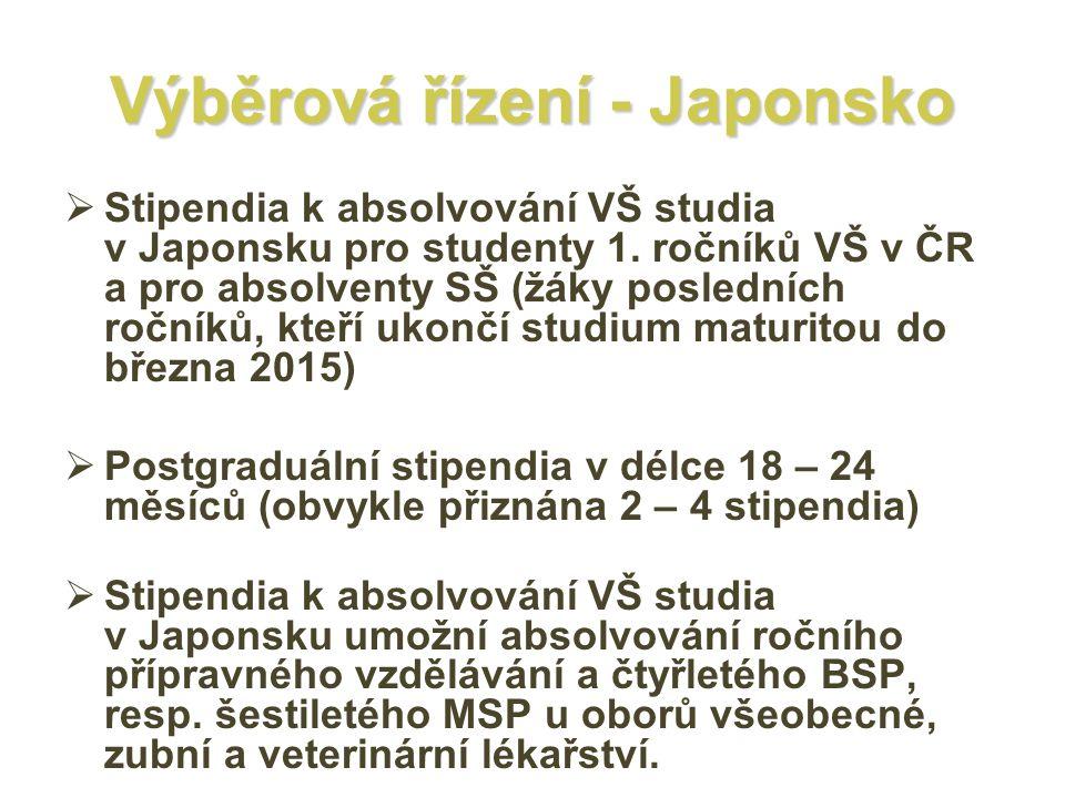 Výběrová řízení - Japonsko