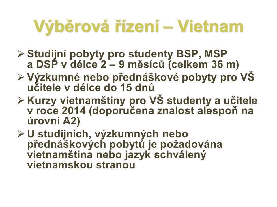 Výběrová řízení – Vietnam