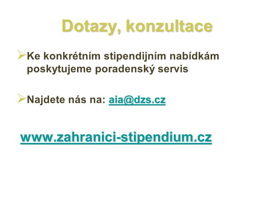 Dotazy, konzultace www.zahranici-stipendium.cz