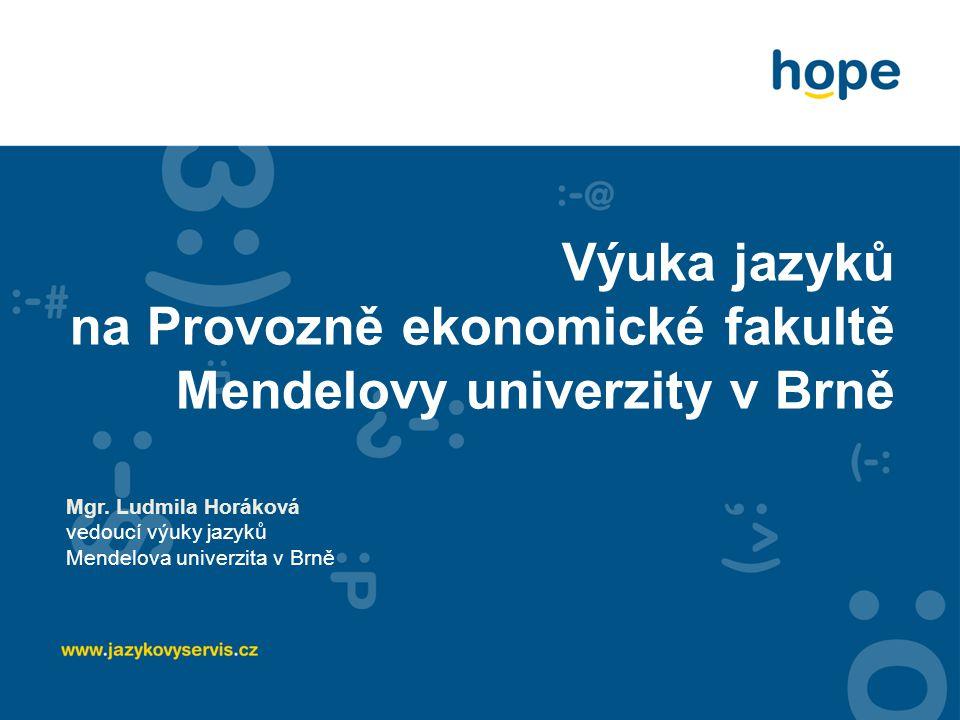 Výuka jazyků na Provozně ekonomické fakultě