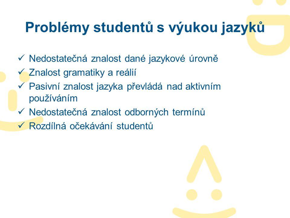 Problémy studentů s výukou jazyků