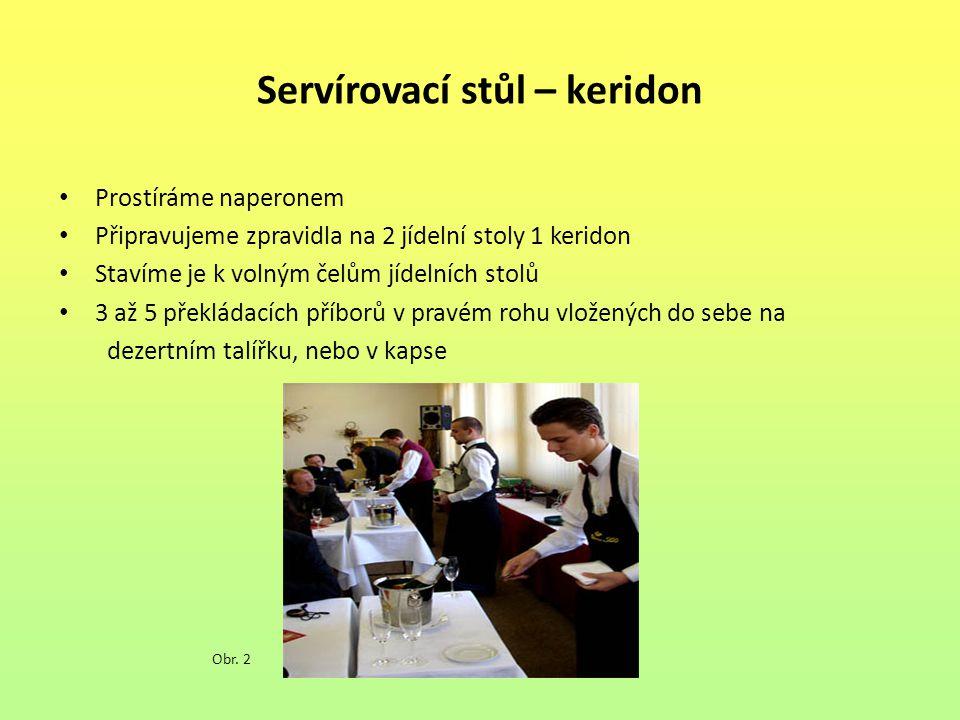 Servírovací stůl – keridon
