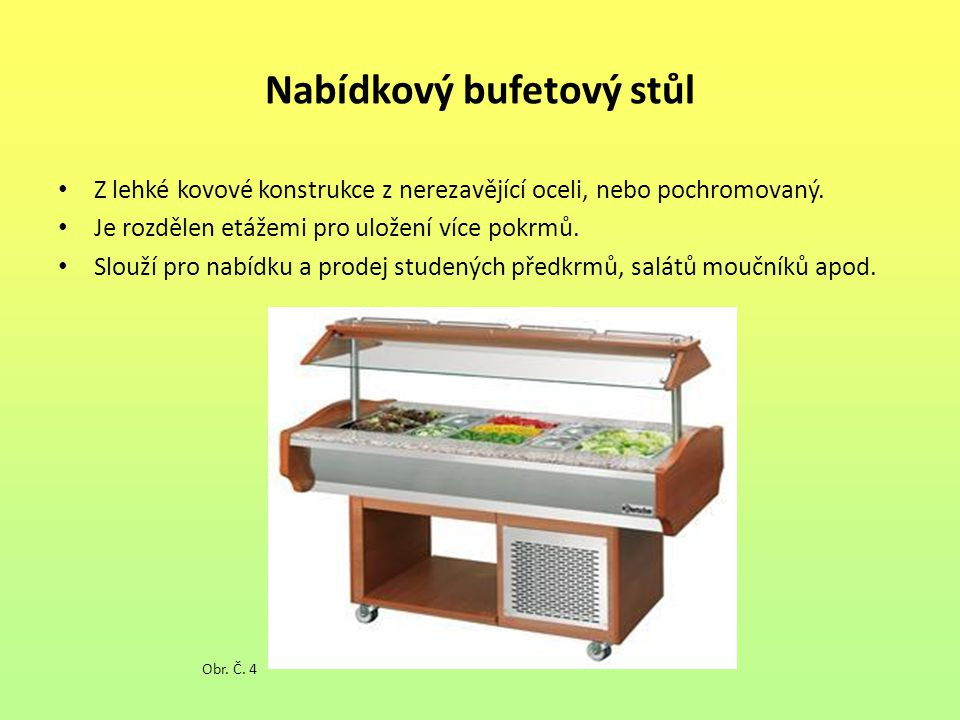 Nabídkový bufetový stůl