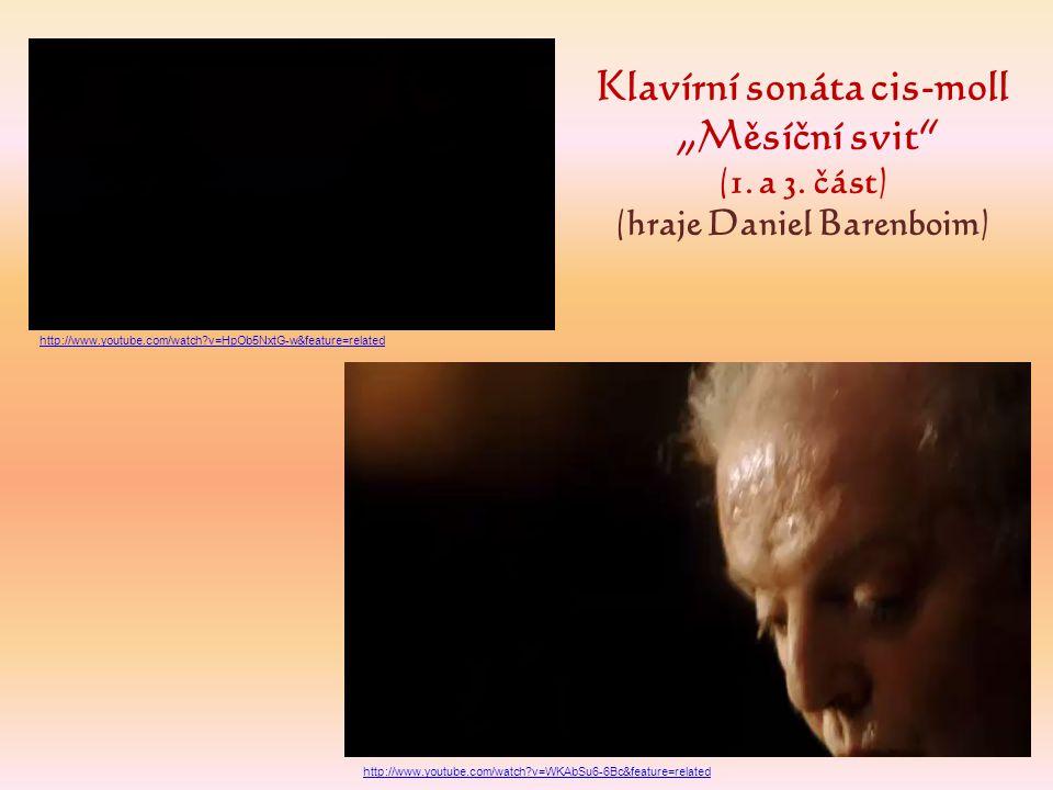Klavírní sonáta cis-moll (hraje Daniel Barenboim)