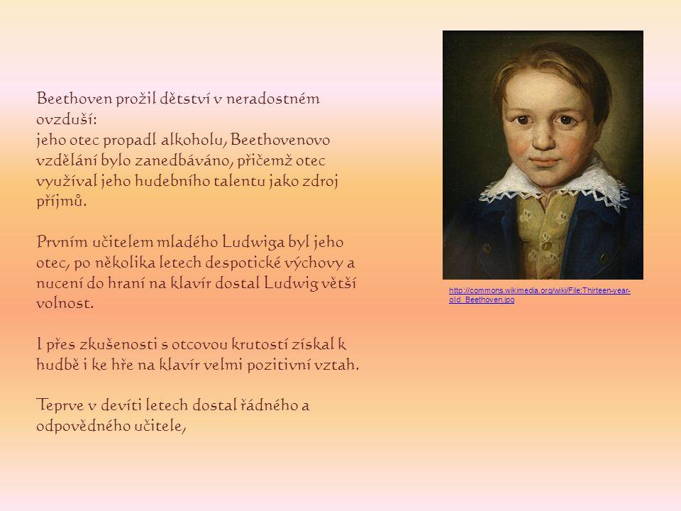 Beethoven prožil dětství v neradostném ovzduší: