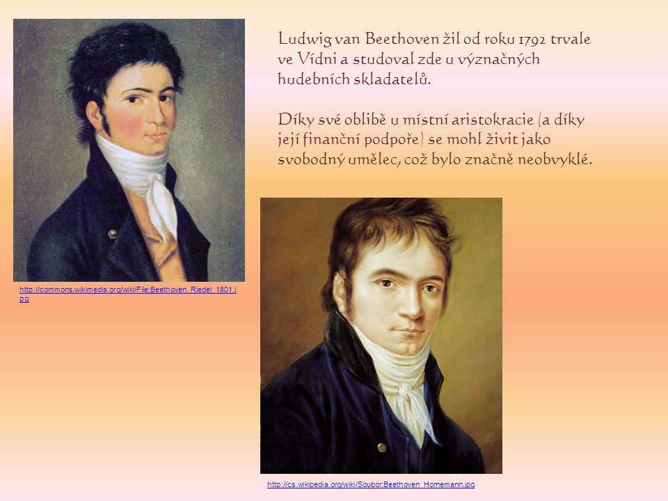 Ludwig van Beethoven žil od roku 1792 trvale ve Vídni a studoval zde u význačných hudebních skladatelů.