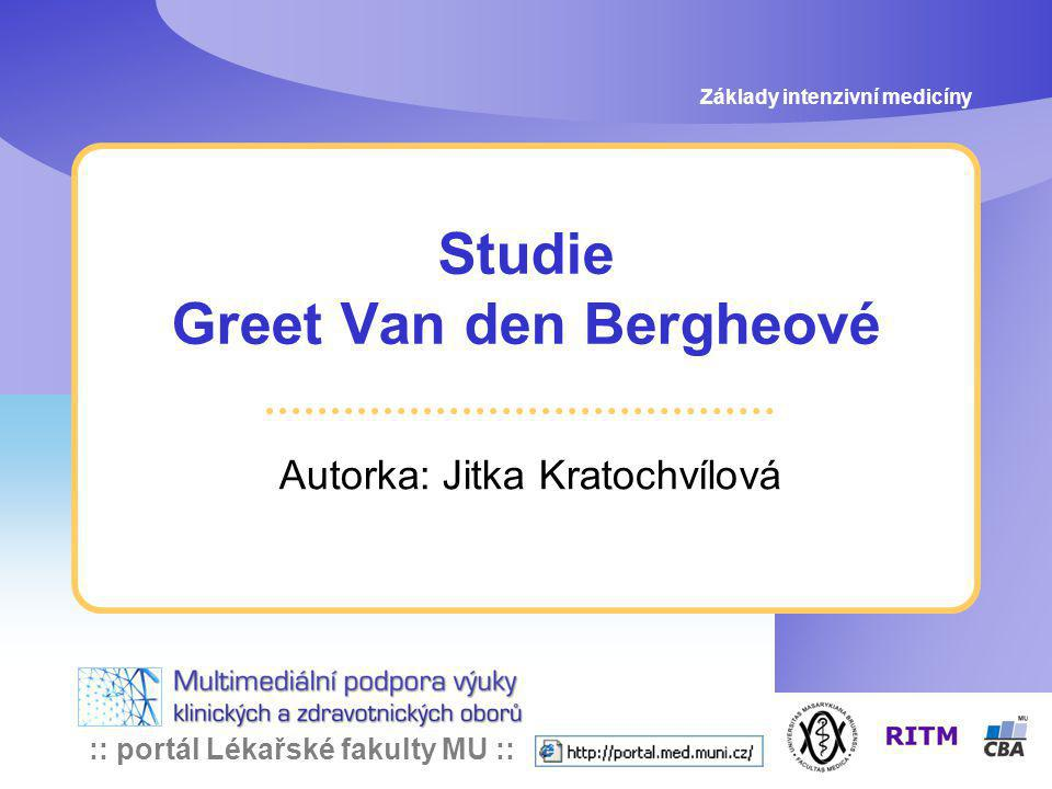 Studie Greet Van den Bergheové