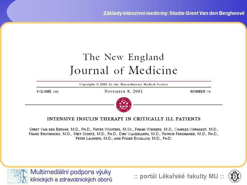 Základy intenzivní medicíny: Studie Greet Van den Bergheové