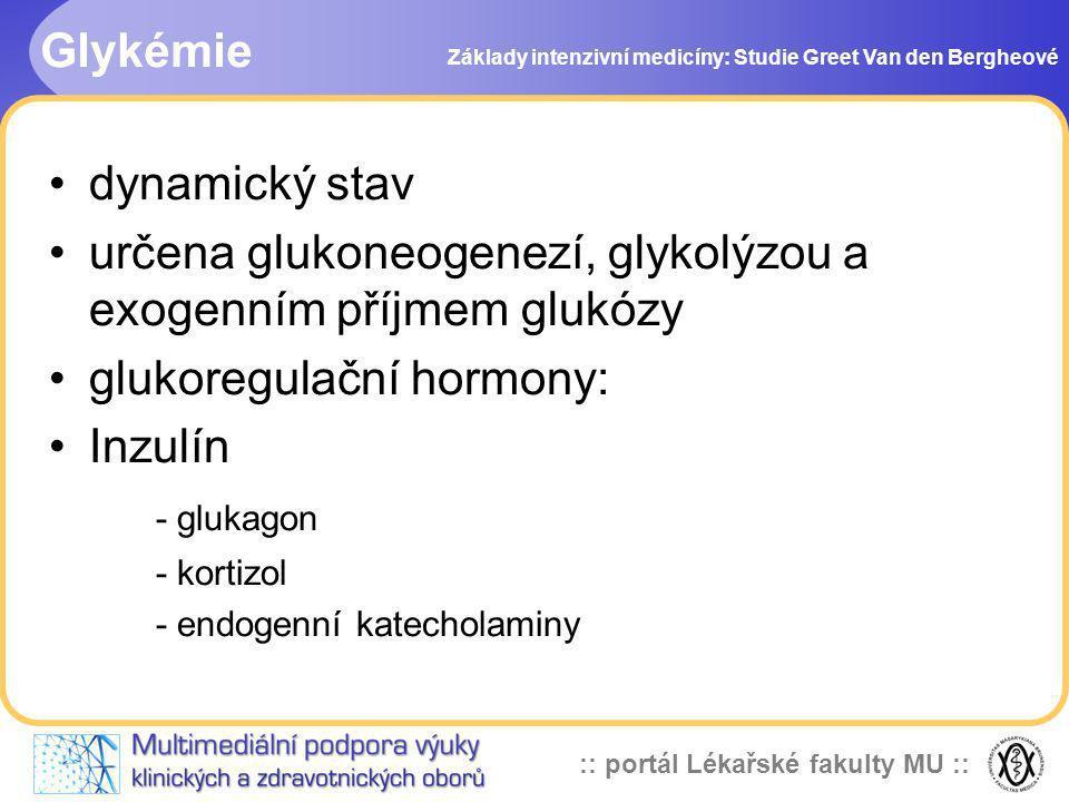 určena glukoneogenezí, glykolýzou a exogenním příjmem glukózy