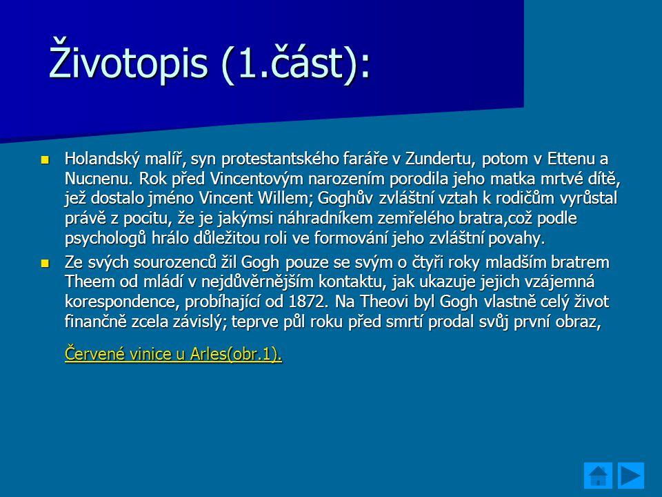 Životopis (1.část):