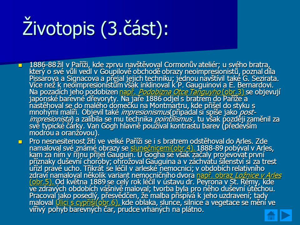 Životopis (3.část):