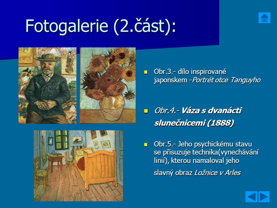 Fotogalerie (2.část): Obr.4.- Váza s dvanácti slunečnicemi (1888)