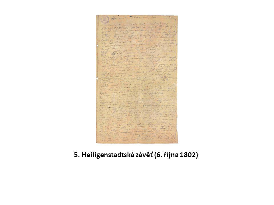 5. Heiligenstadtská závěť (6. října 1802)