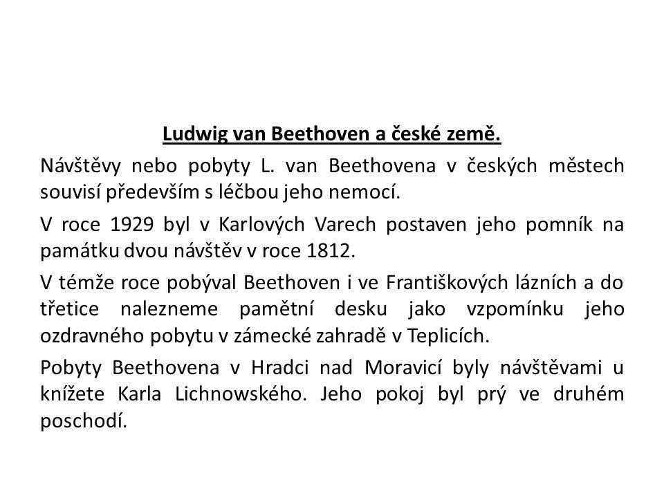 Ludwig van Beethoven a české země. Návštěvy nebo pobyty L
