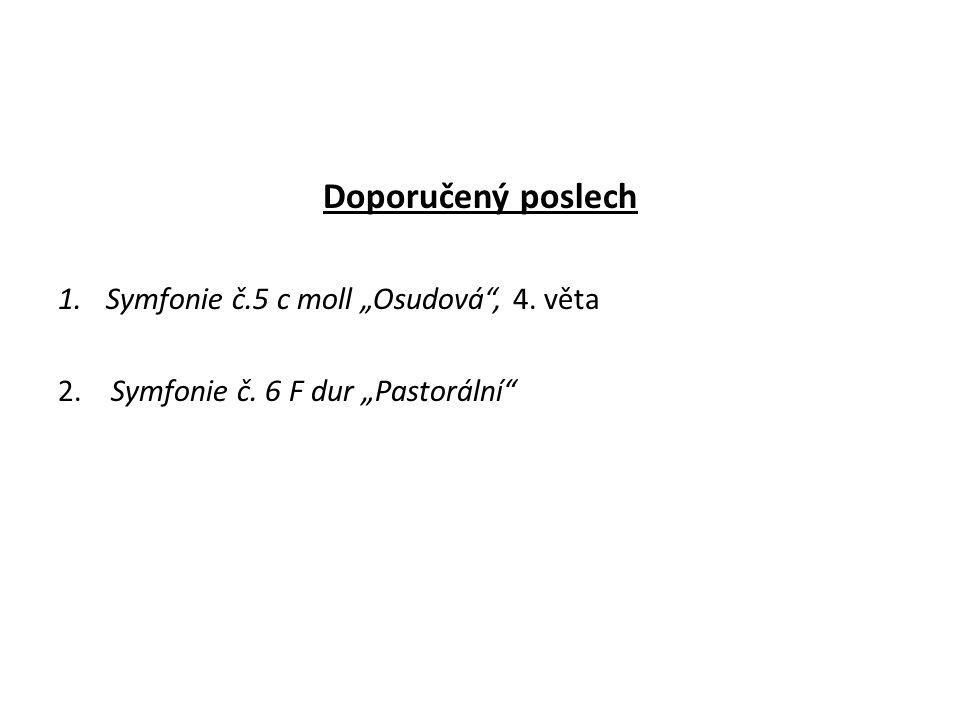 """Doporučený poslech Symfonie č.5 c moll """"Osudová , 4. věta"""